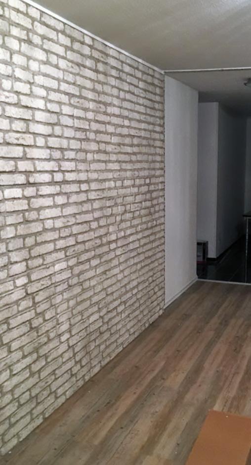 Wandpaneel Backsteinoptik Trendline Weiß